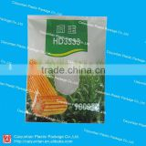 Resuable agriculture plastic bag for corn seeds with a clear window/ Standed side gusset plant seeds bag                                                                                                         Supplier's Choice