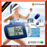 2015 Best Gift Pedometer 3D Digital Step Counter Large Digit Display Colors Pedometer with Lanyard