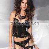 Hot sex adult women animal pattern lingerie corselet with garter belt shapers 1012