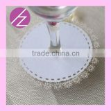 Haoze Laser Cut Place Card on the Bottom of Wine Glass WC-1 for Party Wedding