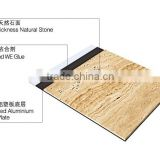 Outer door marble stone and aluminum plastic panels composite tiles for wall cladding