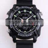 Spy G-shock watch camera,spy gadgets,cctv camera usb rechargable,hidden camera