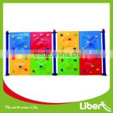 children plastic outdoor backyard playground climbing wall frame structure set LE.PP.015
