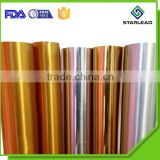 Gold coated metallized polyester film, Golden metallic pet film, PET Metallized Color Film