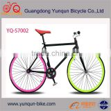 Factory wholesal 700c colorful aluminium alloy fixed gear bike / single speed bicycle bike