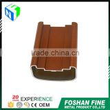 China factory liquid coating wood grain aluminum track channel