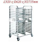 Stainless Steel 2x15 Tray Gastronorm Bakery Cake Trolley