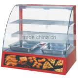 2016 Hot sale food display cabinets glass food warmer display
