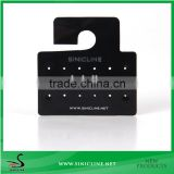 Sinicline custom PVC hang tag for jewelry with silver logo stamped