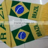 Best Knitted Brasil Brazil Football Soccer Scarf