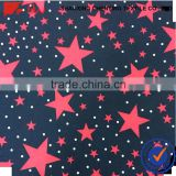 carton pattern children coat fabric brushed TR galaxy printed fabric
