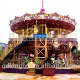 amusement park carousel horse with 68seats