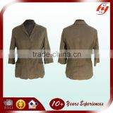 high fashionable New style OEM European comfort Textured solid color linen fintess jacket women linen blazers