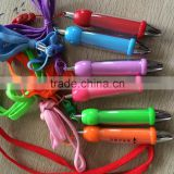 Wholesale logo print neck string mini pen