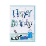 Paper blue happy handmade birthday card designs,handmade cards for friends,letters handmade greeting card designs