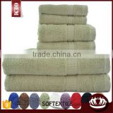 Towels 6 Piece Luxury Combed Cotton Bath Towel Set - 1700 gm                                                                         Quality Choice
