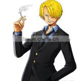 "Japanese Anime One Piece Cosplay 2 Years After Ver. ""Black Leg"" Sanji Cosplay Business Suit Halloween Costume for men Any Size"