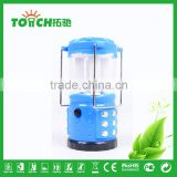 Blue Color Solar Lantern Outdoor Hiking Camping Light Multi Charge LED Lantern Lamp for Car Repairing
