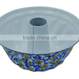 New Design Decal Carbon Steel Non-stick Bundform Pan of flower design ceramic bakeware