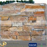 Natural slate gold home depot walls stone