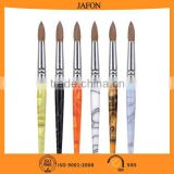 Professional oem factory China round shape kolinsky acrylic nail brush 20                                                                         Quality Choice