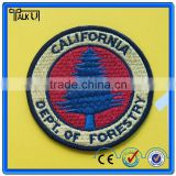 Custom company brand logo textile iron-on embroidery patch, Decorative sports 3D clothing logo embroidery patches