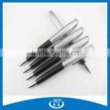 Silver Cap Black Leather Fashion Metal Ball Pen For Summer