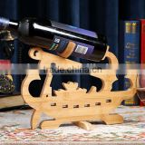 Eco friendly boat shape bamboo wine rack, wine holder