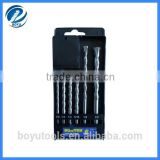 6pcs SDS hammer drill bit set 40 Cr steel body