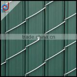 used chain link fence panels, 90% privacy china link fence, Cyclone Fence, Vertical fence inserts with panels