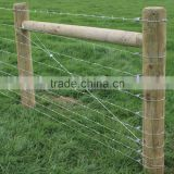 BUILDING BARBED WIRE FENCE GATE