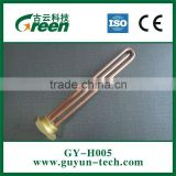 Straight copper Heating element tube with 1 1/4'' brass flange