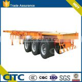 Manufacturer skeleton 3 axles 40ft shipping skeleton container semi trailer homes for sale