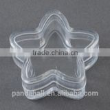 3.5x1.5cm Clear Star Shaped Plastic Beaded Container(CON-S011)