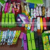 2016 China factory wholesale high quality soft colorful household plastic printing broom