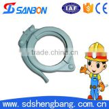 Over 10 years experience Dn150 concrete pump parts stainless steel quick release pipe clamps