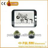 Alter ride comfort and handling response motorcycle external tpms tire pressure monitoring alarm system