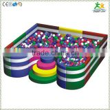 FS-SP-039I customized eco-friendly PVC & EPE & Wood kids hard plastic pool with ladder and colorful sea-balls