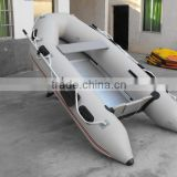 CE Certification and PVC Hull Material Mini Inflatable Fishing Kayak with outboard motor