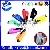 A-OKHot new product for 2015 Lifeguard Auto Rescue Tool Keychain Safety Hammer ; Belt Cutter Emergency Hammer