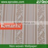 Apartments non-woven material Moisture-Proof wall fashion wallpaper for bedroom decoration