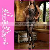 Hot fashion plus size short sexy sheer lace bodystocking
