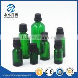 5ML-100ML green colored E-liquid glass bottle with black caps                                                                                                         Supplier's Choice