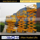 CE ISO certification fully automatic Scissor Lift platform DC power battery for aerial working man lift Self-propelled scissor