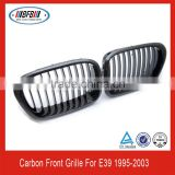 newest auto grill parts FOR BMW E39 5 series 1996-2003 carbon fiber front grille