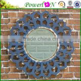 Cheap Antique Wrought Iron Frame High Quality Wall Mounted Round Infinity Mirror For Home Garden Patio J21M TS05 X11PL08-34731CP