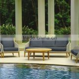 Wicker rattan sofa set furniture - Solid wood sofa set furniture (1.2mm thickness alu frame, high quality wicker furniture)