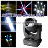 4* 25w controllable limiteless rotation super dynamic led moving beam lights
