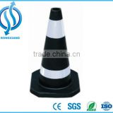 White and black rubber traffic cone,450mm/750mm reflective traffic cone innovative products for import