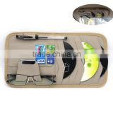 Multi-function 8pc CD Sotre Case Credit Card Holder For Auto Vehicle Truck Sun Visor Organizer Case